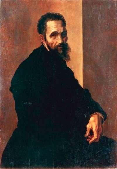 Portret van Michelangelo door Jacopino del Conte
